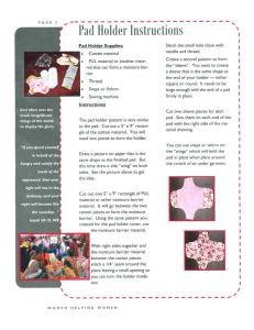 WMU Menstrual pad holder instructions